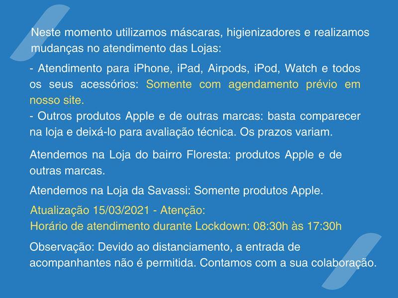 Tecnosys Autorizada Apple Belo Horizonte Atendimento durante a Covid-19